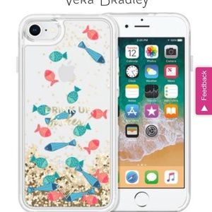 Vera Bradley glitter flurry iPhone case 6/7/8 plus